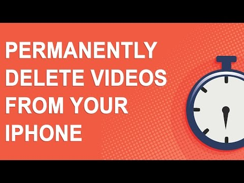 Permanently delete videos from your iPhone (2 minute video)