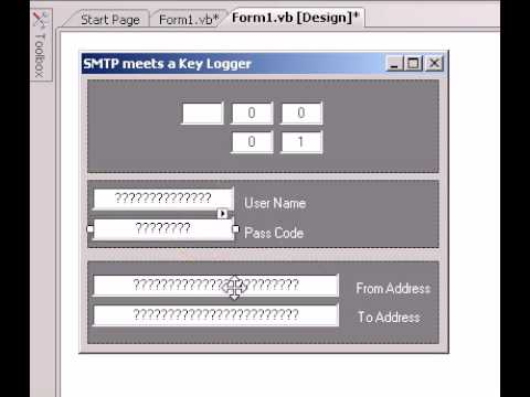 VB.NET - How To Make a SMTP and Key Logging Windows Applicaiton - Roylyn Andrews