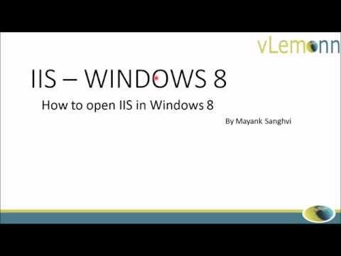 Open IIS in Windows 8