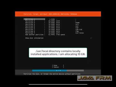 Manual Partitioning of HardDisk in Ubuntu Server 18.04 LTS in VirtualBox 5.2 for Beginners.