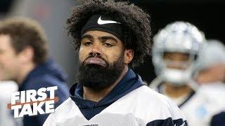 Is Ezekiel Elliott hoping the Cowboys struggle without him?   First Take