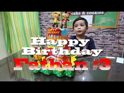 Happy Birthday Fathan #3 dan Bermain Perosotan #playground