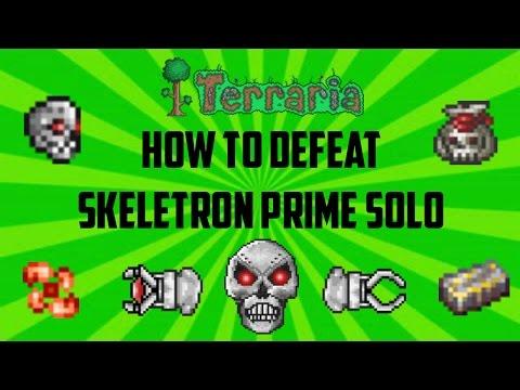 Terraria ios 1.2.4 | How to defeat Skeletron Prime SOLO (Easiest method) Working 2017