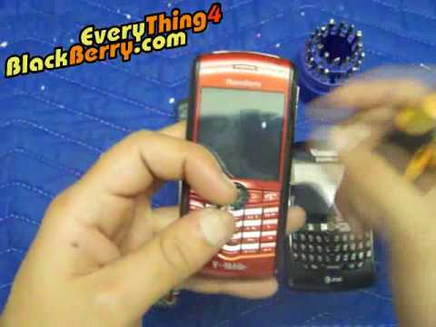 How to change repair fix clean blackberry trackball 8100