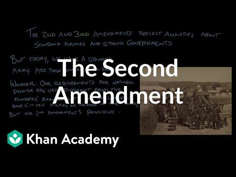 The Second Amendment | US Government and Politics | Khan Academy