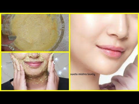 scrub for INSTANT GLOWING , MOISTURIZED & BRIGHTER SKIN    FOR ALL SKIN TYPES    HINDI