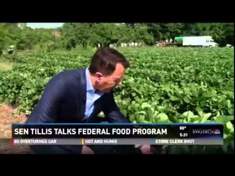 Senator Tillis Talks Federal School Food Program