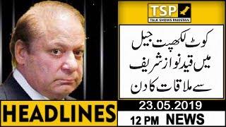 Headlines   12:00 PM   23 May 2019   TSP