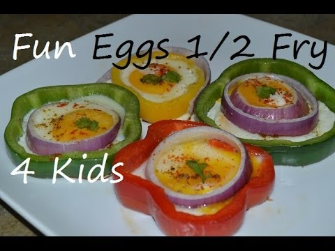 Capsicum Eggs Half Fry in 2 Minute recipes kids Love. Bell Pepper Egg video by Chawla's Kitchen