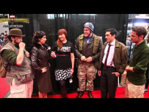 Captain America and Crew Cosplayers at New York Comic Con 2014