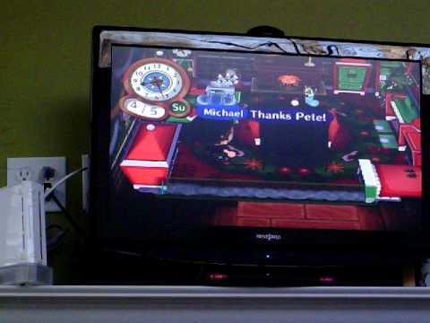 Animal Crossing City Folk-American DLC!!-Black DSi Couch!