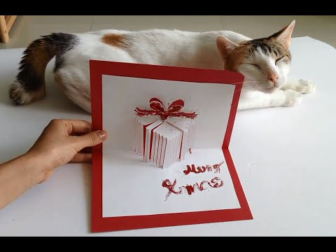 How To Make A Christmas Gift Pop Up Card - A Handmade Holiday-Christmas gifts made EASY!