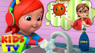 Wash Your Hands Song | Healthy Habits for Kids + More Nursery Rhymes & Baby Songs - Kids Tv