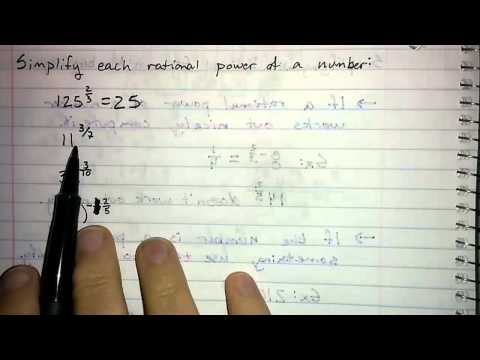 5.3.4 - Simplifying with Rational Exponents: Numbers