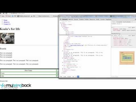 HTML and CSS 08 : External CSS files, width, floating