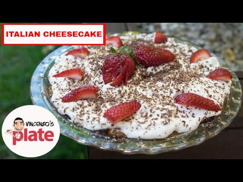 BAKED CHEESECAKE RECIPE | How to make Ricotta & Strawberry Cheesecake | Mother's Day Cake