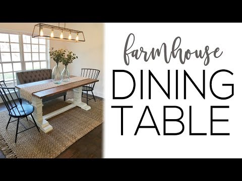 DIY Farmhouse Pedestal Dining Table