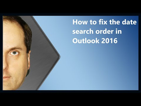 How to fix the date search order in Outlook 2016 and 2013