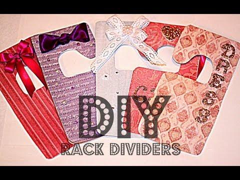 DIY Rack Dividers - Organize Your Closet