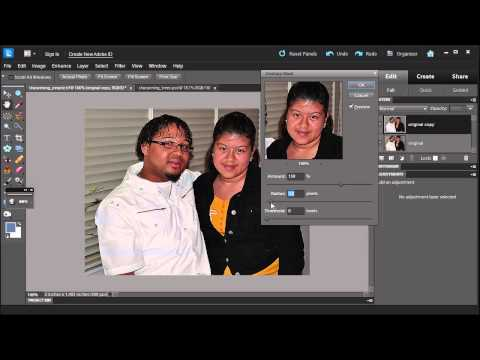 Learn how to apply Unsharp Mask and Adjust Sharpness in Adobe Photoshop Elements 10