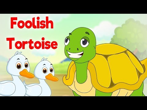 Foolish Tortoise - Panchatantra In English - Cartoon / Animated Stories For Kids