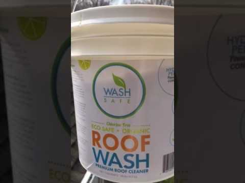 Safe wash one of  best roof mold moss cleaning products