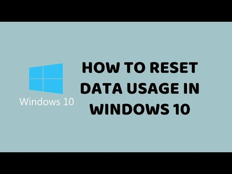 How to Reset Data Usage in Windows 10   Clear Data Usage in Windows 10   Tech Videos In Hindi