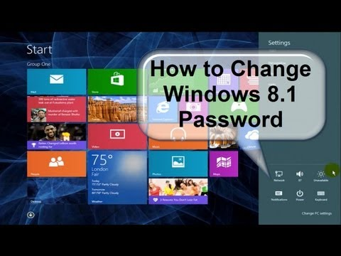 How to change windows 8 Password!!!! - Fast & Easy