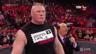 Brock Lesnar vs Goldberg raw 27 March 2017 Goldberg and Brock Lesnar face to face 2017