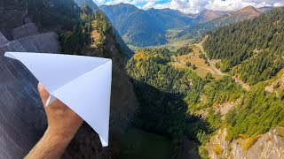 Throwing PAPER AIRPLANES from 165m Dam!