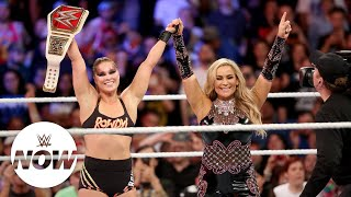 Ronda Rousey wins the Raw Women