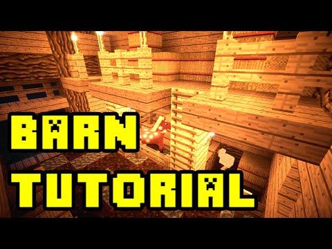 Minecraft: Animal Barn Farm Build Tutorial Xbox/PC/PE/PS3