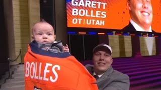 Baby Of Newly Drafted Denver Bronco Garret Bolles Steals Spotlight At NFL Draft