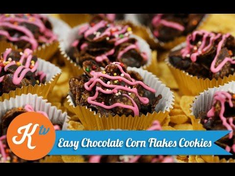 Resep Easy Chocolate Corn Flakes Cookies | YUDA BUSTARA