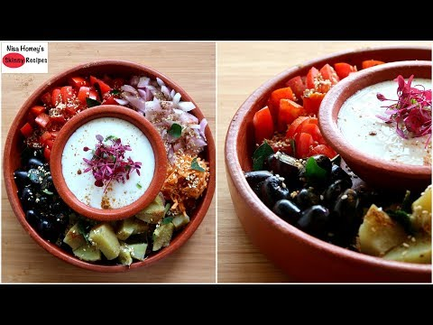 Oil Free Weight Loss Salad For Lunch - How To Lose Weight Fast With Salad -Indian Veg Meal/Diet Plan