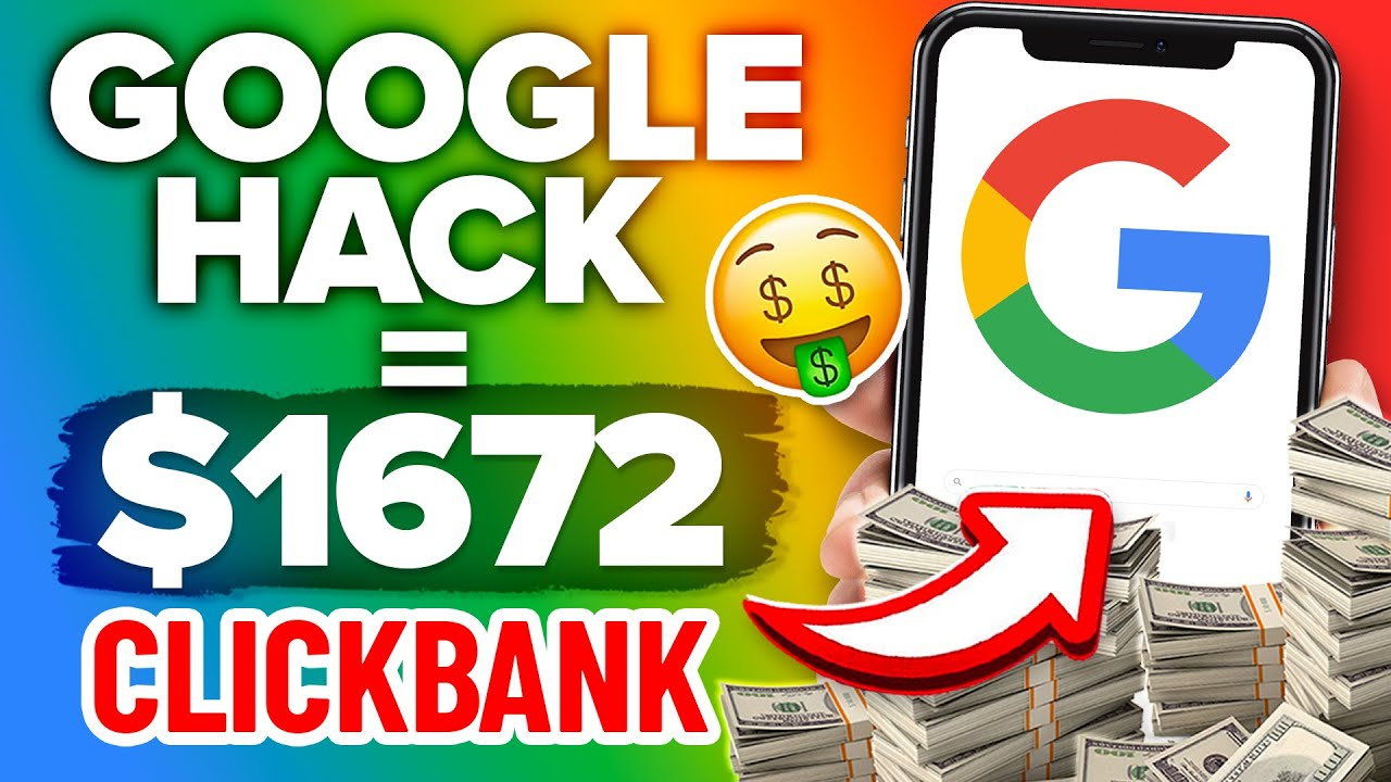 Fastest Way To Make Money On Clickbank $1600+ (Secret Google Hack!) Step by Step Tutorial!