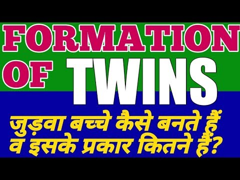 Formation of TWINS How the twins born?Identical,Siamese and Fraternal twins,[HINDI VERSION]