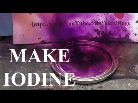 Make Iodine from Sulfuric acid and Alkali Metal Iodide