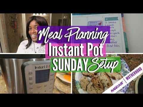 Working Mom Routine | Sunday Setup | Meal Plan | Instant Pot Cooking