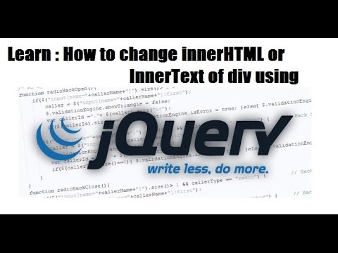 how to change replace or get set inner html of div - JQUERY TRAINING CLASSES - JQUERY TAB