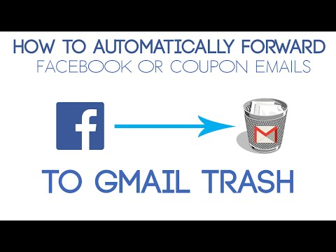 How to automatically send Facebook or Deal email's to Trash in Gmail