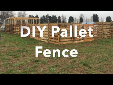 DIY Chicken Pallet Fence