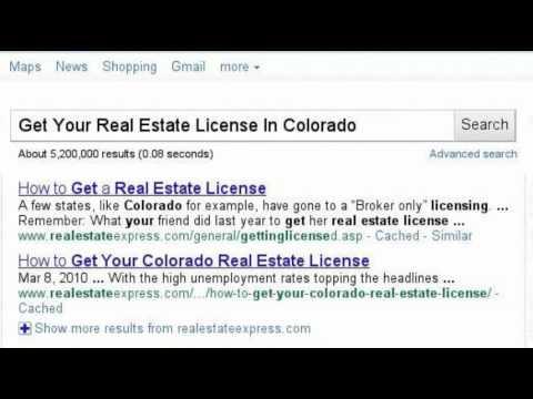 Get Your Real Estate License In Colorado