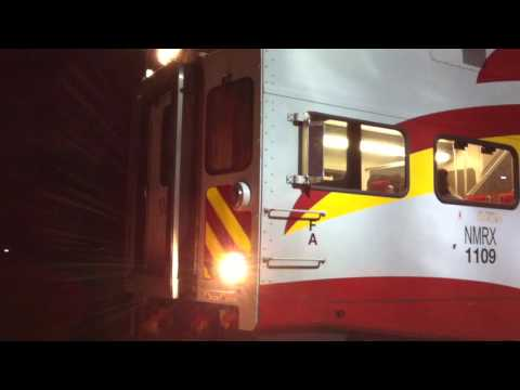 NMRailRunner Trains and Late Amtrak @ Night 12/19/15