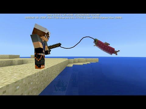 MCPE 1.3 BETA How To Do Realistic Fishing | Command Block Creation