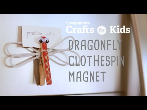 Dragonfly Clothespin Magnet