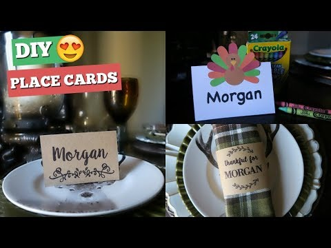DIY THANKSGIVING PLACE CARDS | CRICUT PROJECT
