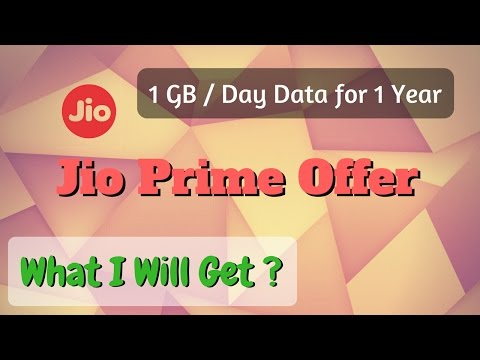 What is Reliance Jio Prime offer   1 Year Unlimited Data in 303/per month  1 GB in Rs 10.  