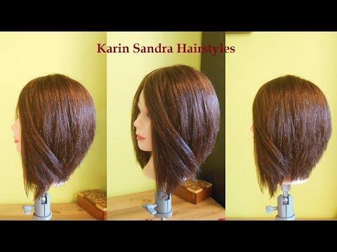 A Line Bob haircut tutorial   Shaped Bob haircut tutorial with layers step by step