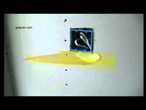Use Fiberglass Tape To Repair Drywall Damage When Cutting Out Electrical Box